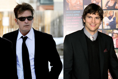 Charlie Sheen and Ashton Kutcher (AAP)
