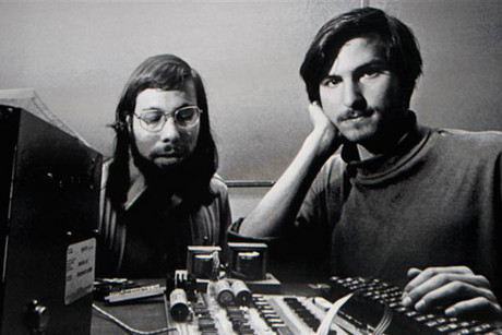Steve Wozniak with Steve Jobs (Reuters)