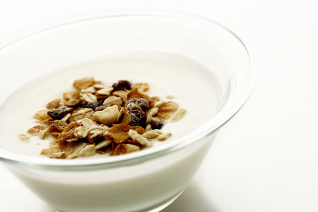 Toasted muesli in whole milk? No good