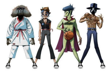 The song's release coincides with Converse's new Gorillaz footwear collection