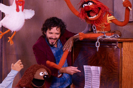 Bret McKenzie with the Muppets