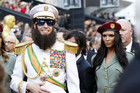 Sacha Baron Cohen in character on the red carpet (Reuters)