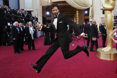 Bret McKenzie poses on the red carpet (Reuters)