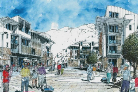 The design for the new ski village near Porters
