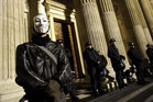 Riot police prepare to remove protesters from the Occupy encampment in front of St Paul's Cathedral in London (Reuters)