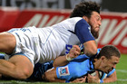 Ranger will sit out the Blues next two matches for this tackle on Bjorn Basson (Photosport)
