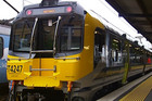 Six new Matangi trains are flagged for the Johnsonville line