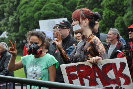 Fracking is banned in several countries because of fears it can cause earthquakes (AAP)