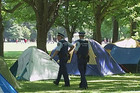The last occupy protesters have been told to leave their camp site in Christchurch's Hagley Park