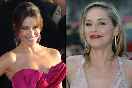 Sofia Vergara; Sharon Stone (Photos: AAP)