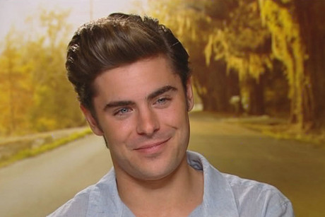 Zac Efron is promoting his new film, The Lucky One