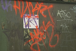 Tagging in Christchurch's quake-damaged eastern su...
