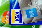 New Zealanders spent less on their credit and debit cards last month (file)