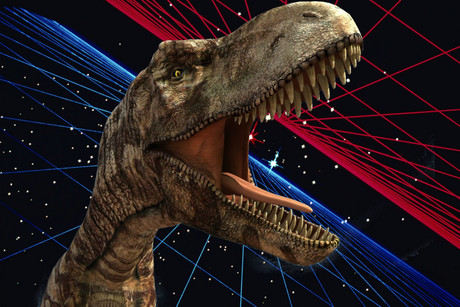 Dr Breslow says another planet could today be ruled by a race of advanced dinosaurs