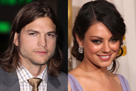 Ashton Kutcher; Mila Kunis (Photos: AAP)