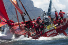 Team NZ's Camper collected five valuable points after finishing second in the in-port race ahead of the Volvo Ocean Race's sixth leg (file pic)