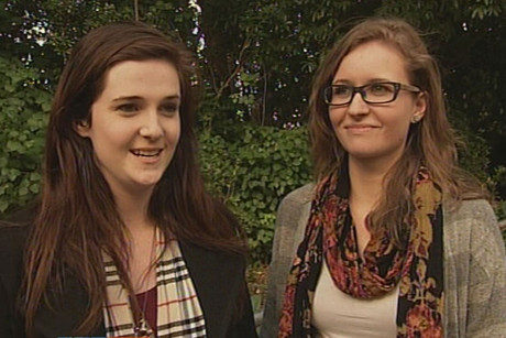 When Rebekah Galbraith (left) kissed her girlfriend Jennie Leadbeater good night early on Sunday morning she believes that act of love lead to them being asked to leave the Courtney Place bar, Public