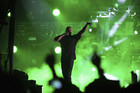 Dr Dre performs at Coachella (Reuters)