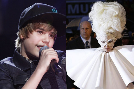 Justin Bieber and Lady Gaga (Photos: Reuters)