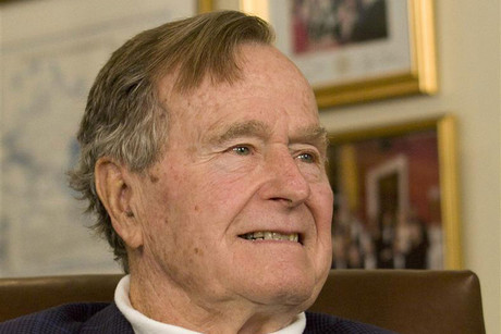 Former US president George HW Bush (Reuters)