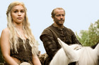 Emilia Clarke and Iain Glen in Game Of Thrones