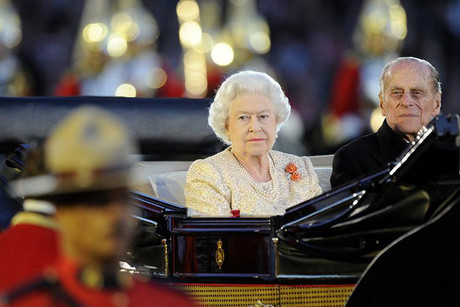 Britain's Queen Elizabeth and Prince Philip arrive for the Diamond Jubilee Pageant at Windsor Castle (Reuters)