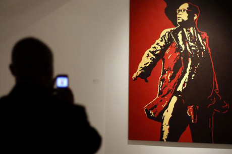 """The Spear"" at the Goodman Gallery (Reuters)"