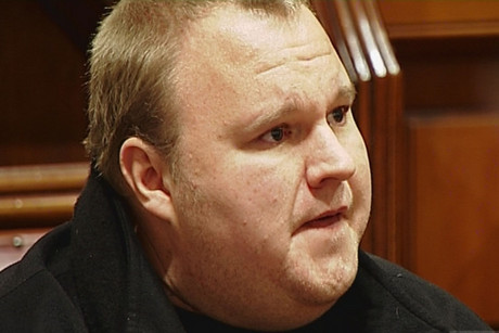 Kim Dotcom in the Auckland High Court today