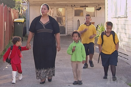Ika Hiko and her four children have to get by on minimum wage