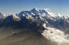 Mount Everest and other peaks of the Himalayan range are seen from air during a mountain flight from Kathmandu (Reuters)