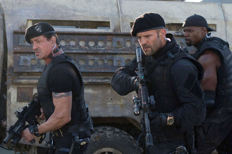 Still from The Expendables 2