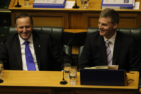 John Key and Bill English yesterday (Jared Mason)
