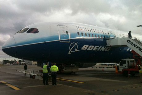 The Boeing 787 Dreamliner before takeoff (Photo: Brook Sabin)