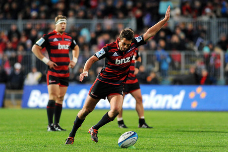 Crusaders Tom Taylor in action during their Super Rugby game Crusaders v Reds (Photosport)