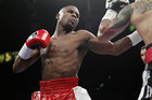 Floyd Mayweather Jr. (L) of the U.S. punches at WBA super welterweight champion Miguel Cotto of Puerto Rico during their title fight at the MGM Grand Garden Arena in Las Vegas (Reuters)