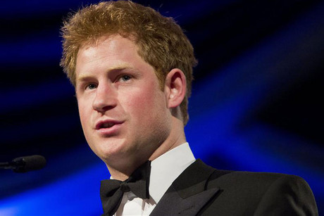 Britain's Prince Harry after receiving the Humanitarian Award from the Atlantic Council (Reuters)