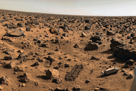 The surface of Mars, as shot by NASA's Viking lander (NASA)