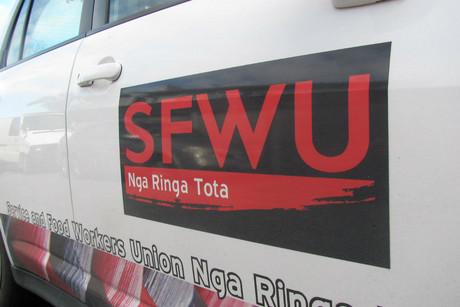 Service and Food Workers Union members were involved in the dispute along with the New Zealand Nurses Organisation