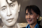 Myanmar opposition leader Aung San Suu Kyi tours the Nobel Peace centre in Oslo (Reuters)