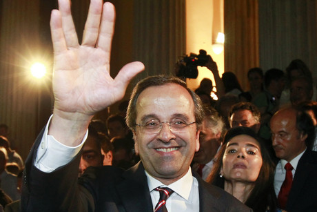 Leader of conservative New Democracy party Antonis Samaras (Reuters)