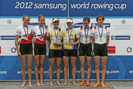 Samsung World Rowing Cup III, finale, Louise Ayling and Julia Edward (Photosport)