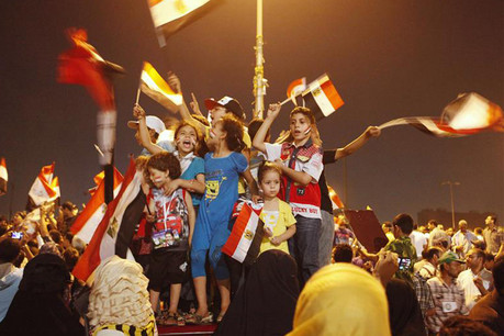 Children of supporters of the Muslim Brotherhood's presidential candidate Mohammed Morsi (Reuters)