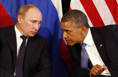 US President Barack Obama meets with Russia's President Vladimir Putin in Los Cabos, Mexico (Reuters)