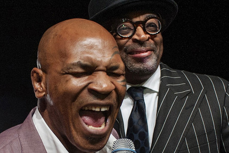 Mike Tyson (left) with director Spike Lee (Reuters)