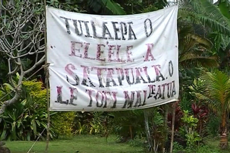 The land at Satapuala, near Samoa's main airport, is now under the control of the Samoan Government