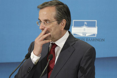 Conservative New Democracy leader and winner in Greece's general elections Antonis Samaras (Reuters)