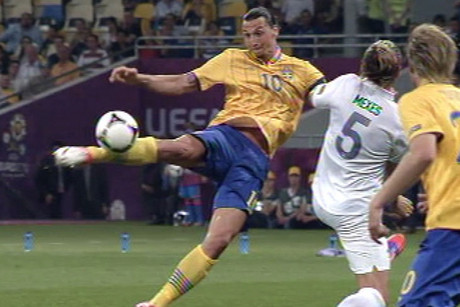 Zlatan Ibrahomovic scored a cracking volley 