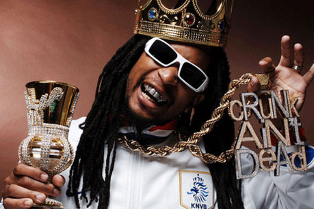 Lil Jon, a hip hop artist famed for his alcohol intake