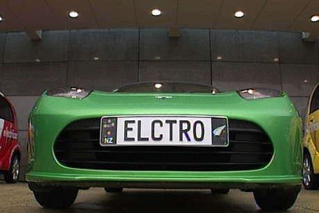 The Tesla electric car