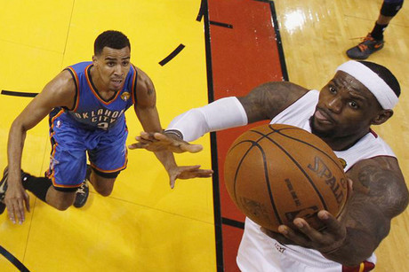 LeBron James, right (Reuters)